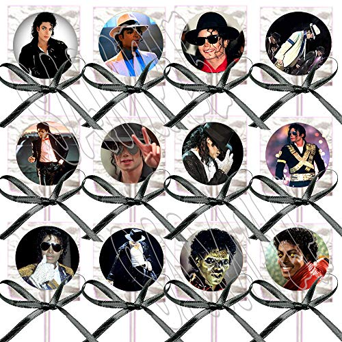 Michael Jackson Party Favors Supplies Decorations Lollipops Black Ribbon Bows Party Favors -12 -