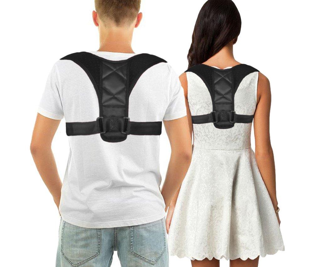 Posture Corrector Support Brace for Men and Women, Faiger Adjustable Back Posture Corrector, Improve Bad Posture, Shoulder Alignment, Prevent Slouching, Upper Back Pain Relief (ReG)