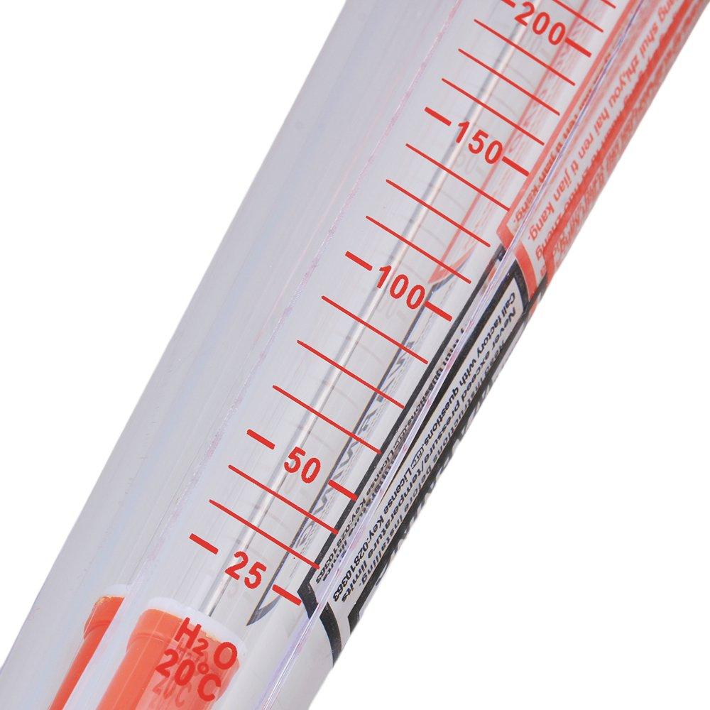 20 cm Metal tubo de plástico tipo Liquid Caudalímetro medidor de flujo de agua 25 - 250L/h LZS-15 para pruebas instantánea flujo: Amazon.es: Amazon.es