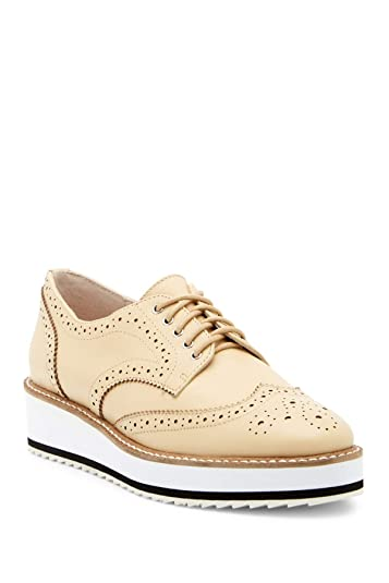 a93eb1f5583 Shellys London Women s Emma Bone Nude Platform Wingtip Lace Up Man-Tailored  Oxford (37