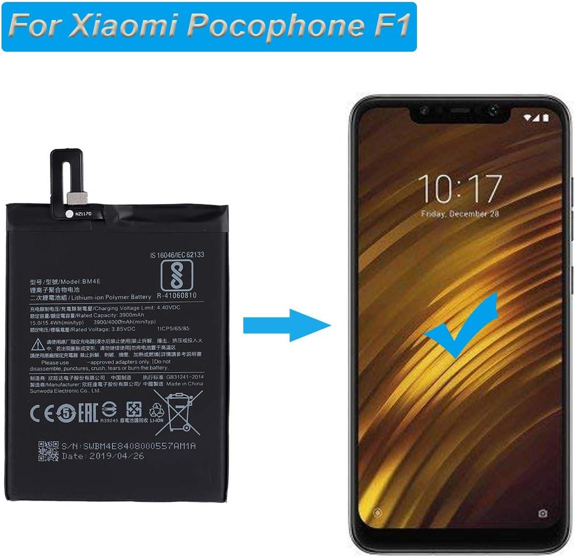 E-yiviil batería de Repuesto BM4E Compatible con Xiaomi Pocophone ...