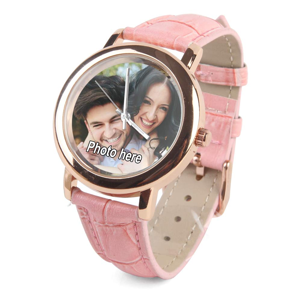 Custom Personalized Womens Photo Watches for Valentine s Day – Rose Gold Watch