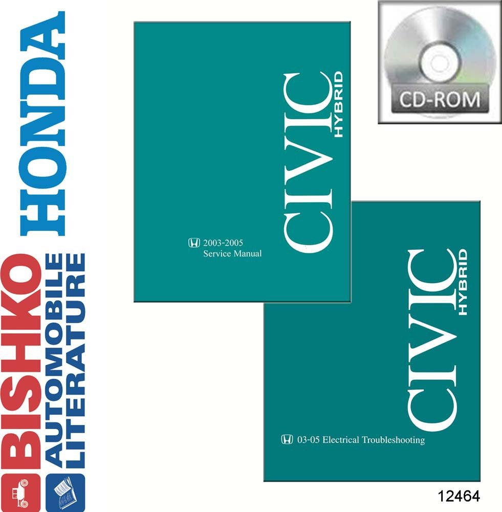 Amazon.com: bishko automotive literature 2003 2004 2005 Honda Civic Hybrid Service  Repair Manual CD w/03-05 ETM manual: Automotive