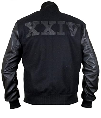 F&H Mens Michael B Jordan XXIV Battle Fleece Jacket with Leather Sleeves: Amazon.es: Ropa y accesorios
