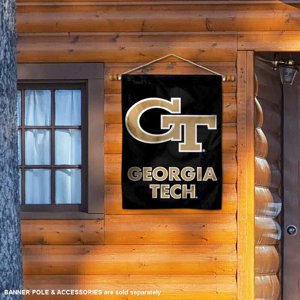 Georgia Tech Black 28 x 40 Two Sided House Flag College Flags and Banners Co