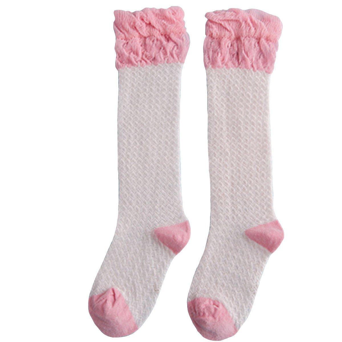 6 Pack Baby Girls Mesh Hollow Knee High Stockings Anti-moaquito Tube Socks