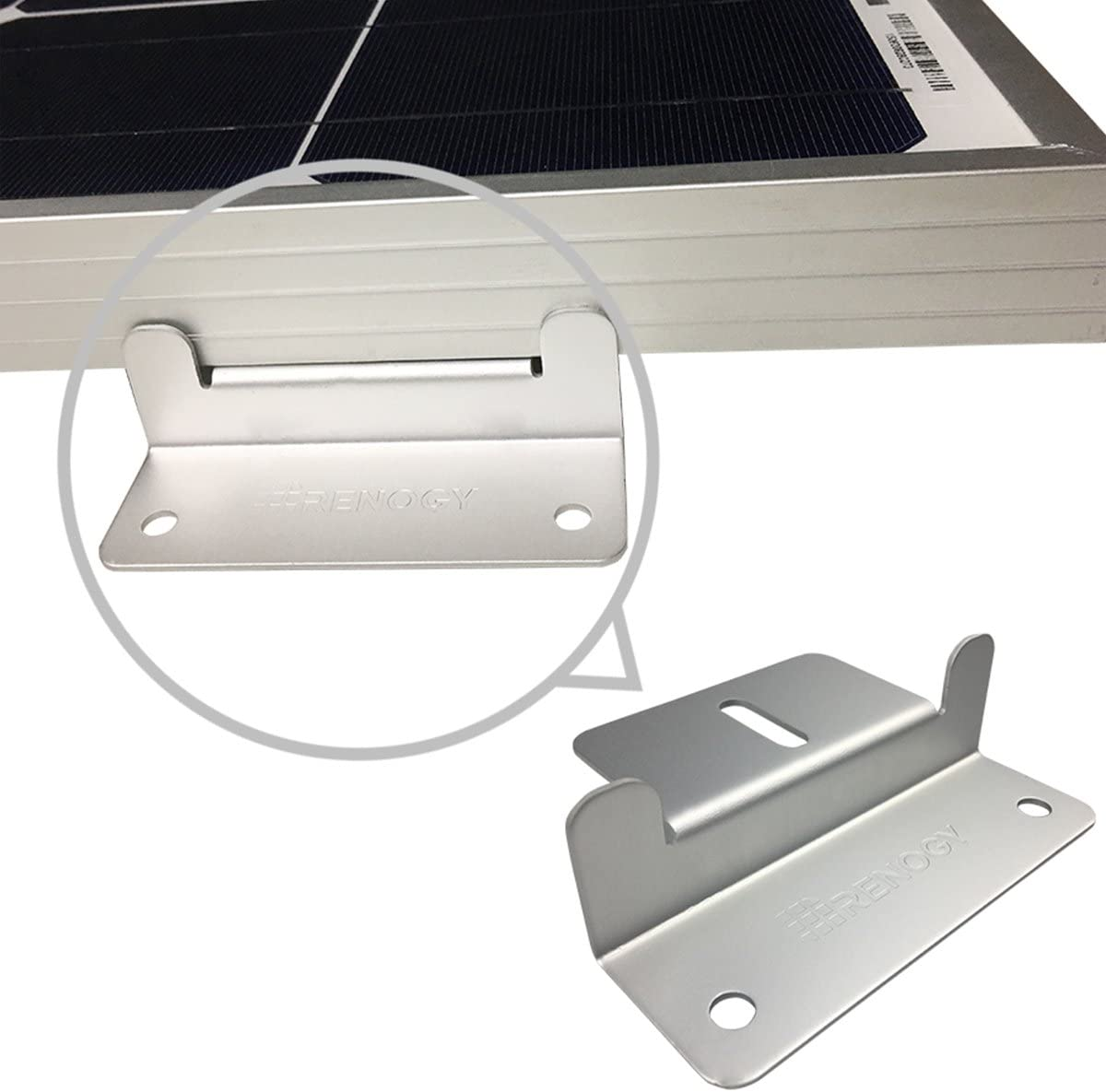 Renogy 2 Sets Solar Panel Mounting Z Bracket Set of 4 Units RV Boat Off Grid Roof
