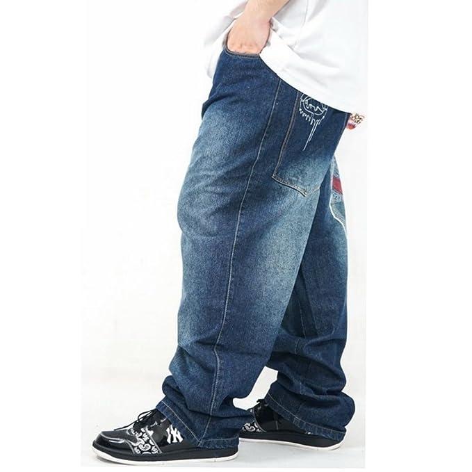 ZHAOXIANGXIANG Bordados Hip-Hop Skate Pantalones Vaqueros ...