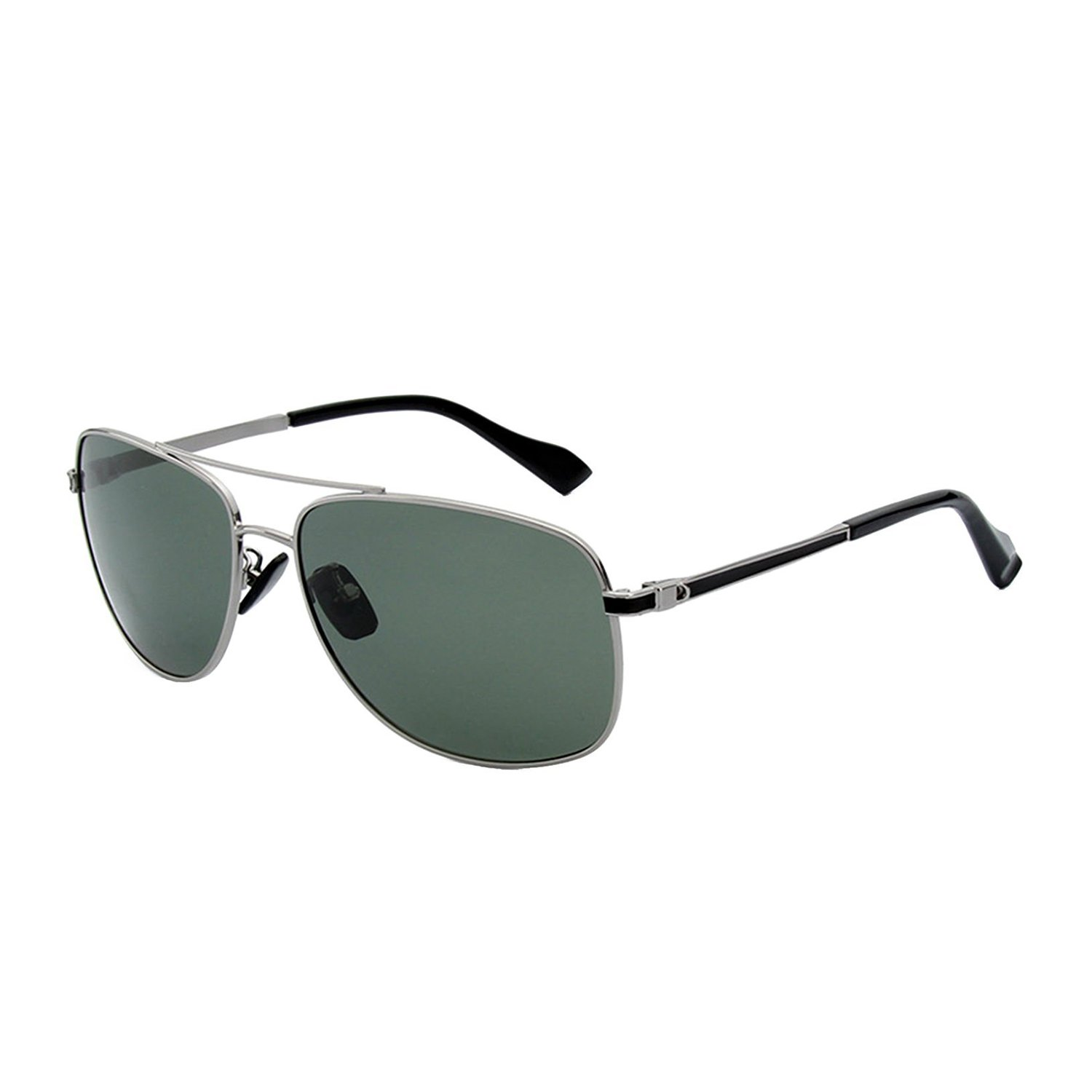 40e94ba49d3 CHB Polarized Sunglasses Aviator Metal Frame Light-weighted UV400  Protection Men s With Case (silver 2)  Amazon.co.uk  Clothing