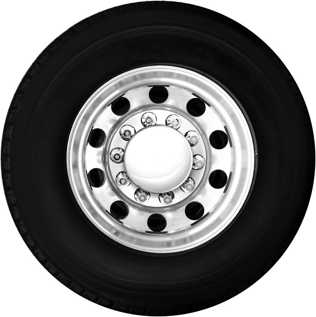 2 Front and 4 Rear with Standard Hub Caps and Push-On 33mm Lug Nut Covers for Trucks 4 Pack GG Grand General 0 x 3 Grand General 40232 Chrome Plastic Complete ABS Axle Set
