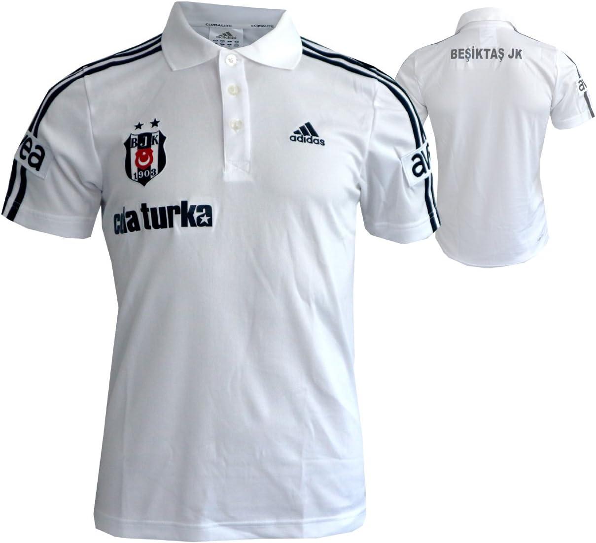 adidas Besiktas Istanbul - Polo de manga corta, color blanco ...