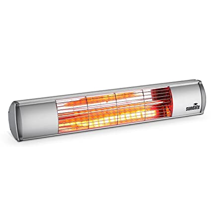 Etonnant Sundate Electric Patio Heater, Indoor/Outdoor Wall Mounted Infrared Heater,  Golden Tube,