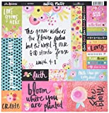 Bella Blvd 1180 Illustrated Faith She Blooms Cardstock (25 Sheet Per Pack), 12