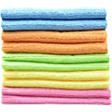 """Sinland wholesale Household tools Multi-purpose Cleaning Cloths Microfiber Kitchen Cloth With Stripe 12""""x12"""" 10 Pack"""