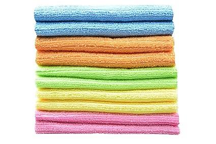 SINLAND Microfibra paños de cocina toalla paños de limpieza 30cmx30cm x10unidades