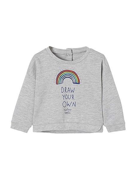 VERTBAUDET Sudadera bebé niña con Motivo arcoíris: Amazon.es: Ropa y accesorios