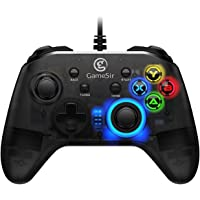 GameSir T4W Game Controller Wired Gamepad for PC Windows 10/8.1/8/7 PS3 Android Dual Shock Gaming Gamepad USB Gamepad…
