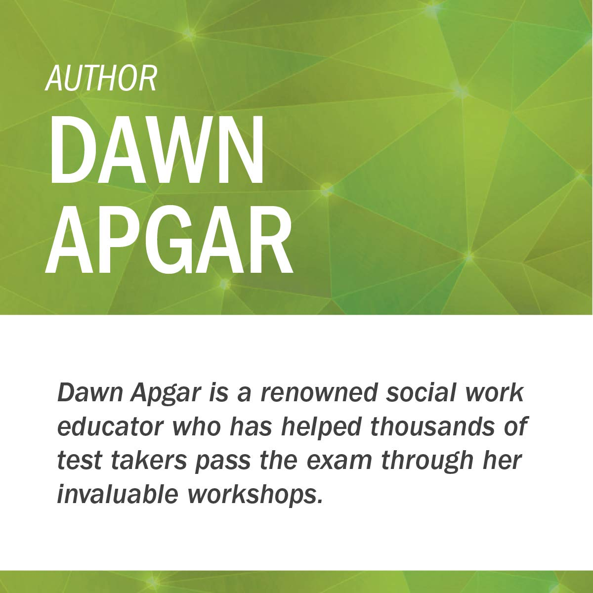 Social Work ASWB Masters Exam Guide, Second Edition: A Comprehensive Study  Guide for Success (Book + Free App): Dawn Apgar PhD LSW ACSW:  9780826147110: ...
