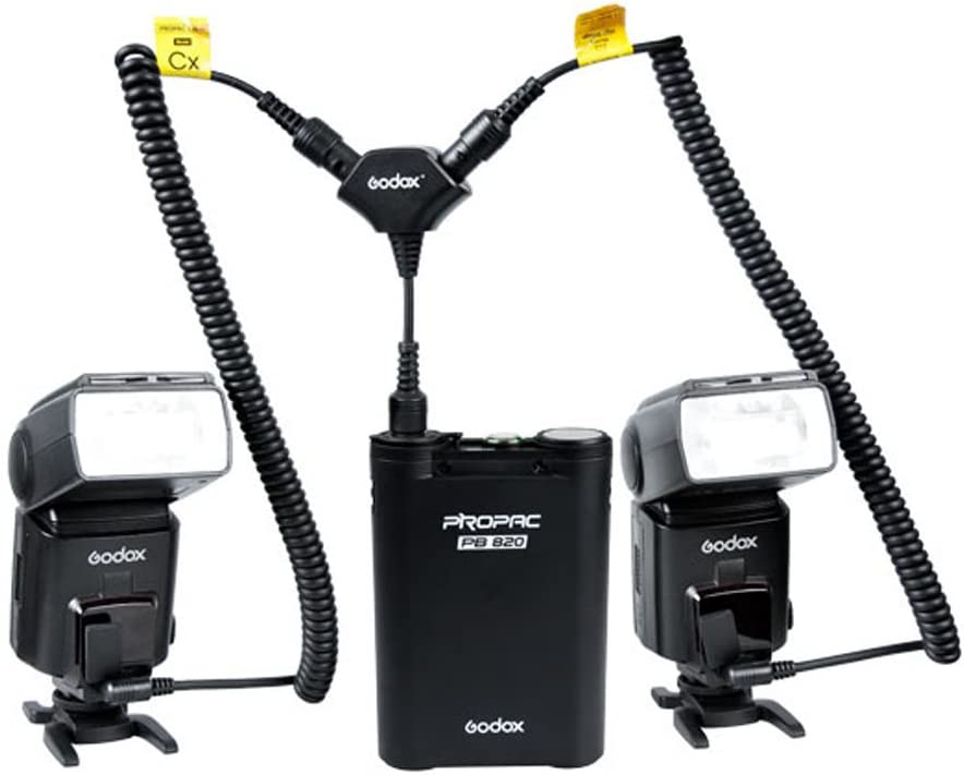 Godox DB-01 One-to-Two Cable Adapter for PROPAC Power Pack PB960 PB820 Godox Speedlite AD360 AD180