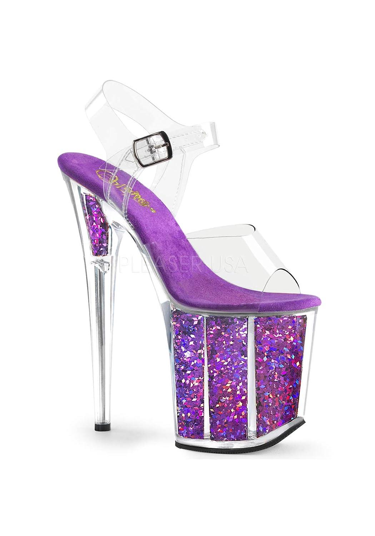 Pleaser B000LSXRV0 Glitter FLAMINGO-808GF Clr/Purple Multi Multi Glitter 987ee1e - jessicalock.space