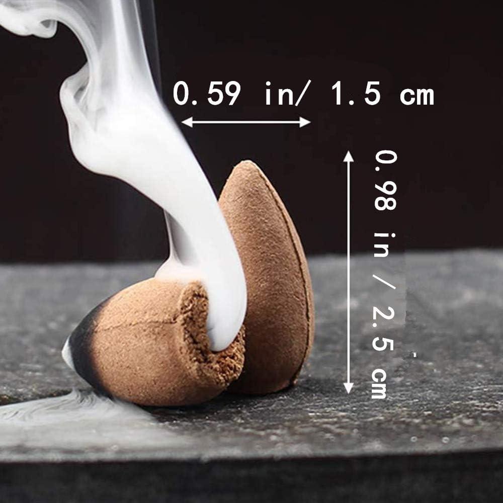 nat/ürlicher Duft 40 St/ück R/ückfluss-R/äucherst/äbchen mit Aufbewahrungsbox f/ür R/ückfluss-R/äuchergef/ä/ß N//A R/ückfluss-R/äucherkegel Aromatherapie Sandelholz Kirschbl/üten-D/üfte