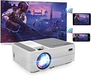 2020 New Mini Wireless Projector Portable for Smarpthone Gaming, LCD Home Video Projectors WiFi Screen Mirroring 3200 Lumen 1080P Supported Compatible with TV Stick DVD Outdoor Movie Night