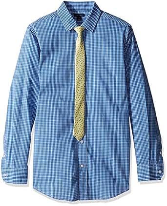 Tommy hilfiger big boys 39 long sleeve mini for Tommy hilfiger gingham dress shirt