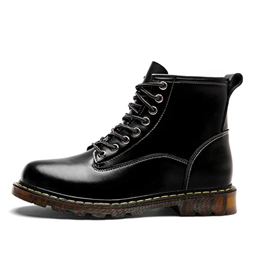 2418552bbf6 Amazon.com: Mens Winter Ankle Boots Men Warm Shoes Motorcycle Boots ...