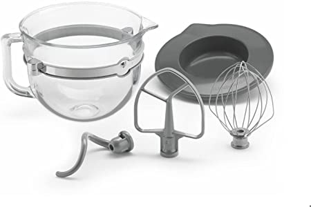 Amazon Com Kitchenaid 6 Quart Glass Mixing Bowl With Accessories For Bowl Lift Stand Mixers Kitchen Dining