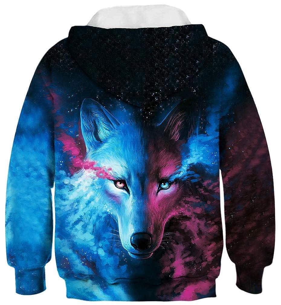 Sucor Girls 3D Galaxy Hoodies for Kids Cool Pullover Sweatshirt Sweater Outwear