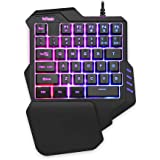 RedThunder One Handed Gaming Keyboard RGB Backlit 35 Keys Portable Mini Gaming Keypad Ergonomic Game Controller for PC…