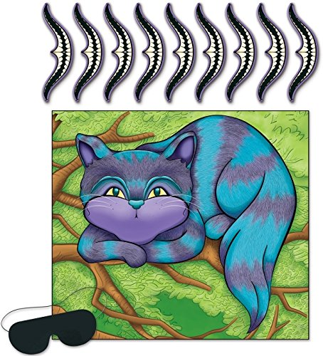Pin The Smile On The Cheshire Cat Game (Mask And 9 Smiles Included) (Party City Alice In Wonderland Costume)