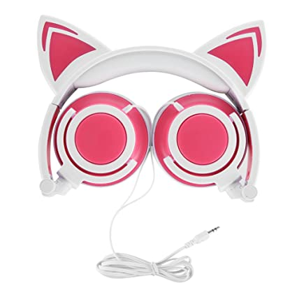 Amazon Com Kids Headphones With Cat Ear Usb Rechargeable Adjustable