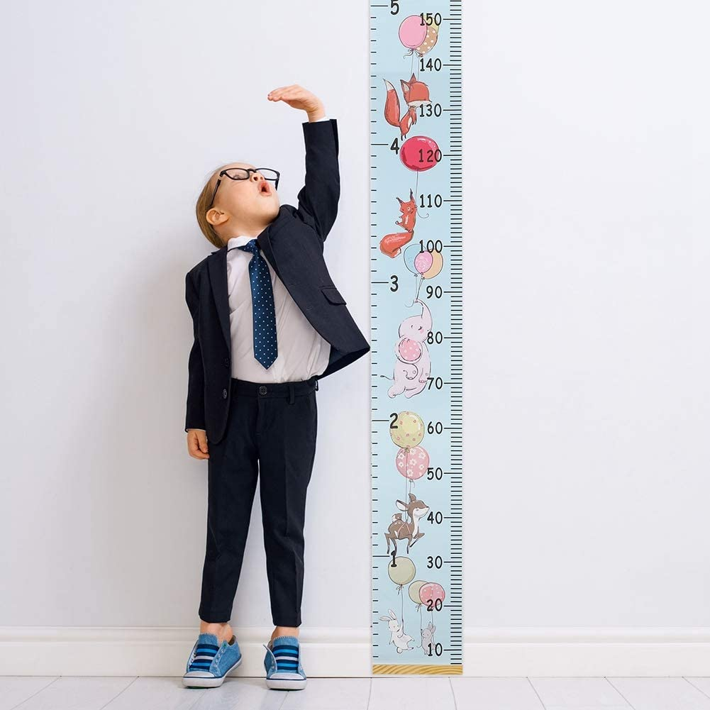height stickers on the wall Mytobang Simple height chart Dinosaur removable DIY vinyl mural height growth chart canvas wall ruler decoration 200cm x 20cm