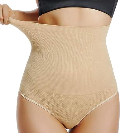 Damen Figurformender Nahtlose Hohe Taille Miederslip Mit Bauch-Weg-Effekt