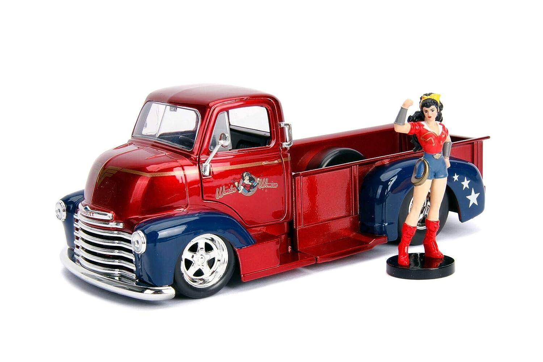 Jada Toys 1 24 DC Bombshells '52 Chevy COE Diecast Vehicle w Wonder Woman Figure