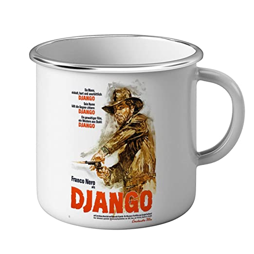 Taza de Metal Película alemana antigua del Cartel de Django ...