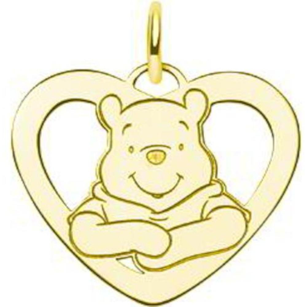 Gold Plated Silver Heart Disney Winnie the Pooh Charm