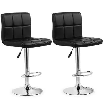 Bar Stühle homfa 2x barhocker barstühle design hocker karo mit fußablage
