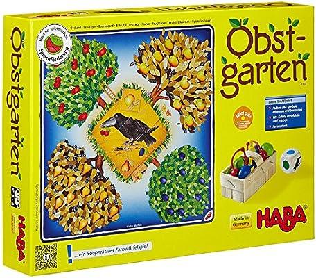 HABA 4170 Obstgarten - Juego de mesa con dados y frutas [Importado ...