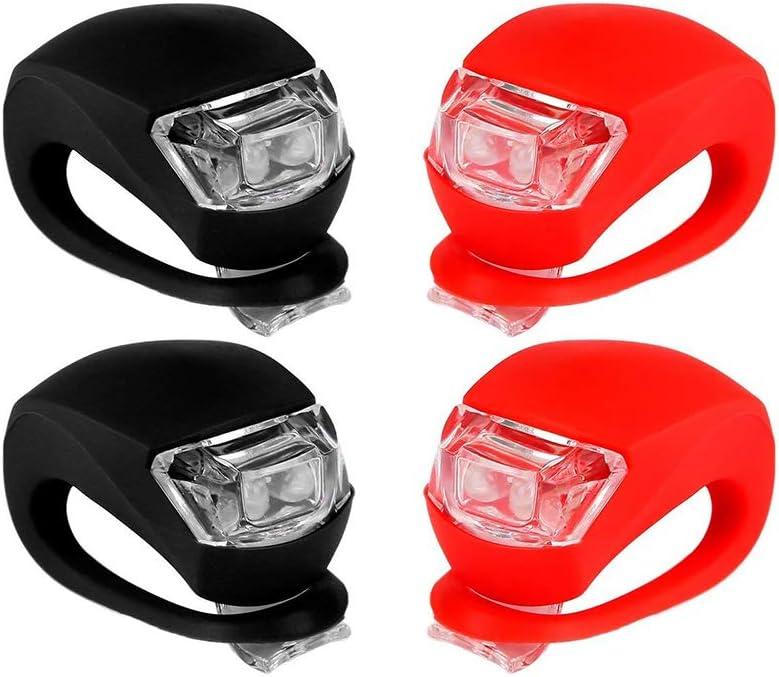 DierCosy 4 St/ück Fahrradleuchten Super Frosch Silikon LED Fahrradleuchte Vorne Und Hinten Fahrradleuchte