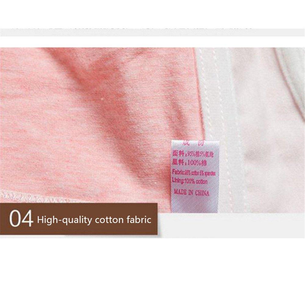 RTWAY Nursing Bra 100/% Cotton Wireless Maternity Sleep Bra Front Open for Breastfeeding