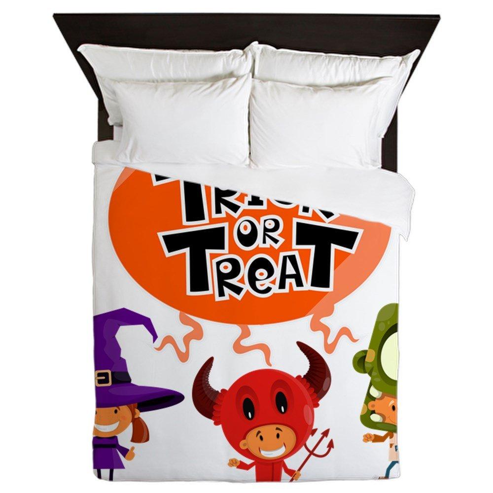 Queen Duvet Cover Halloween Trick or Treat Kids