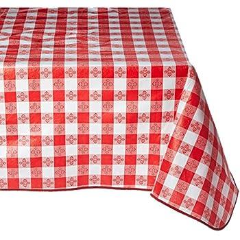 Winco TBCS 52R Checkered Table Cloth, 52 Inch X 52 Inch,