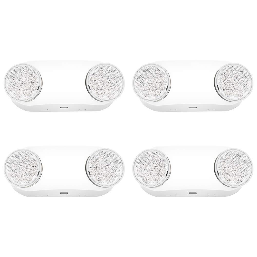 Freelicht Hardwired LED Emergency Light Two Round Head - UL Certified - 4 Pack by FREELICHT