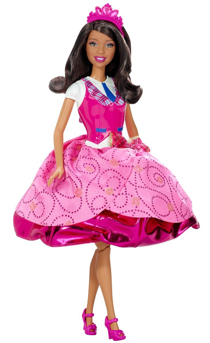amazon com barbie princess charm princess blair african