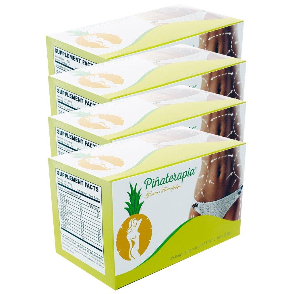 PINEAPLE Tea - Te de piña, Box Pack of 4 by Gloria Hincapie (Image #1)