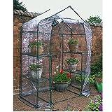 NEW J-home Walk In Greenhouse PVC Plastic Garden Grow Green House Multi Shelves