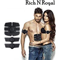 Rich N Royal Buyerzone Muscle Exerciser Smart ABS Stimulator with Stickers Pad Body Slimming Massager