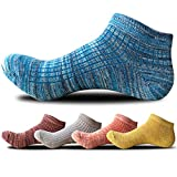 Men's Ankle Crew Socks Low Cut Causal Socks 5 Pairs(Assorted Color)